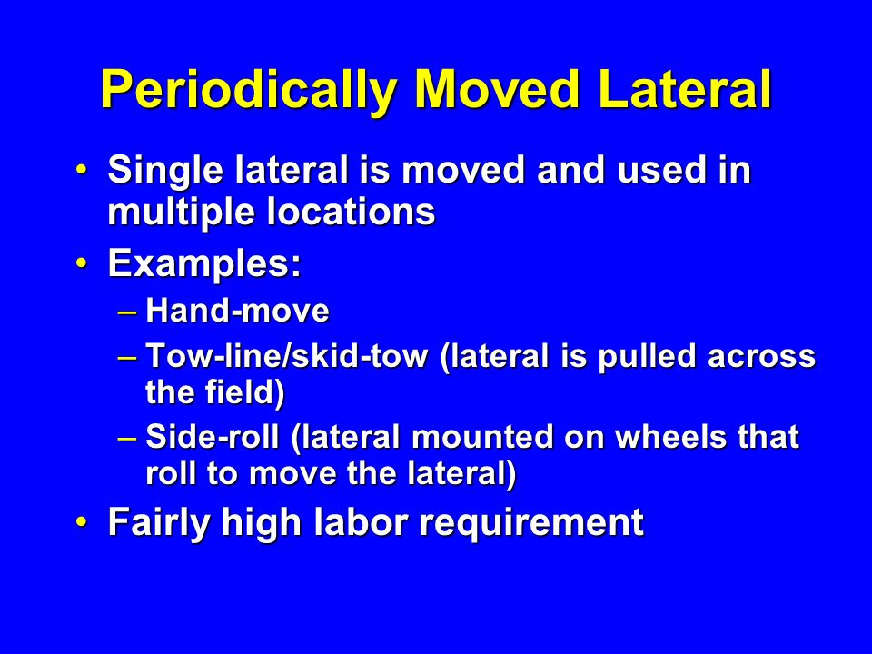 Periodically Moved Lateral