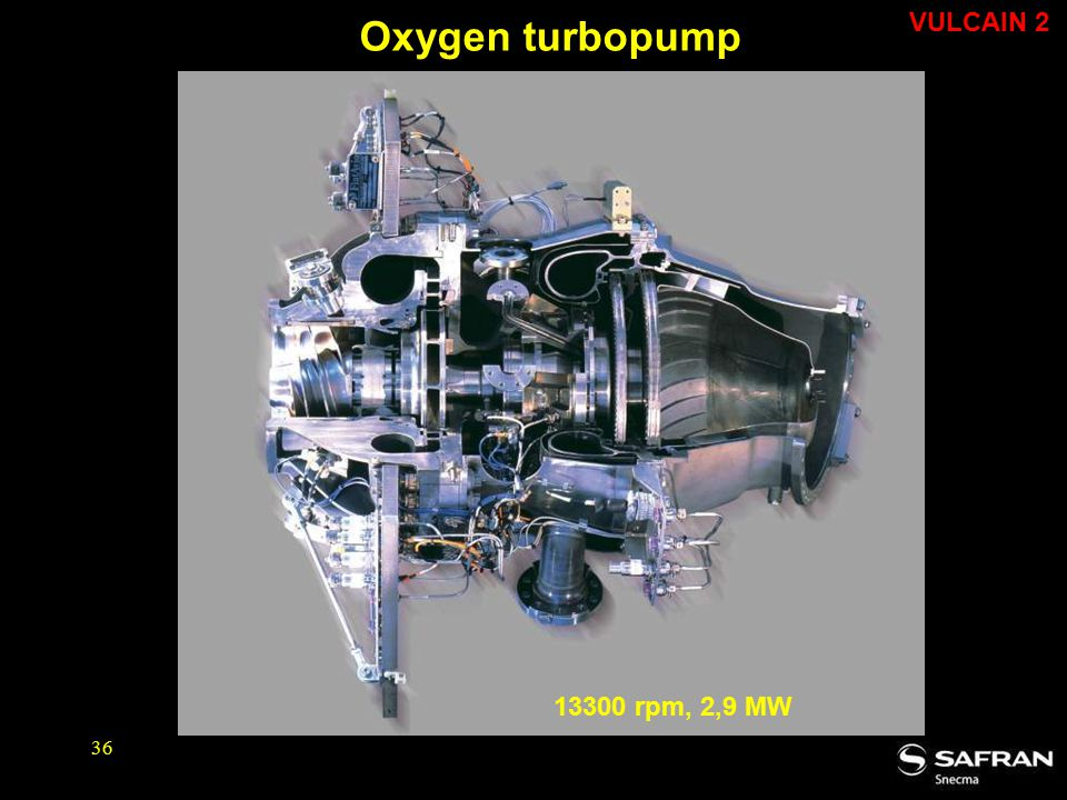 Oxygen turbopump VULCAIN 2 13300 rpm, 2,9 MW