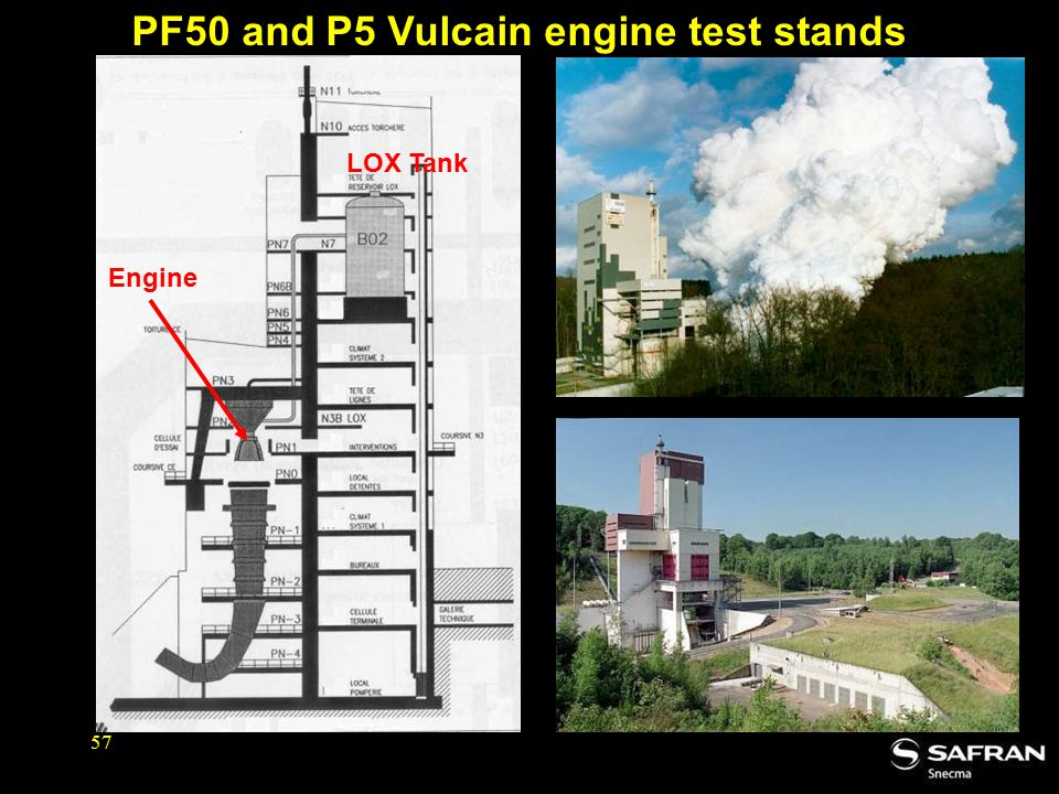 PF50 and P5 Vulcain engine test stands