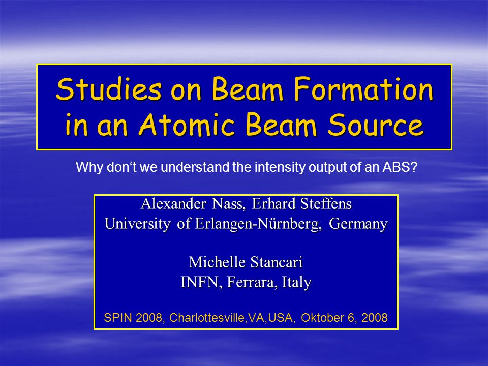Studies on Beam Formation in an Atomic Beam Source