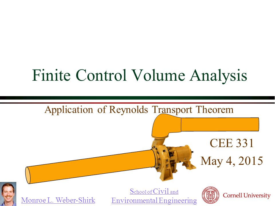 Finite Control Volume Analysis