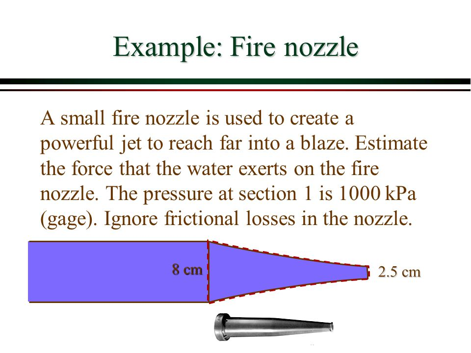 Example: Fire nozzle