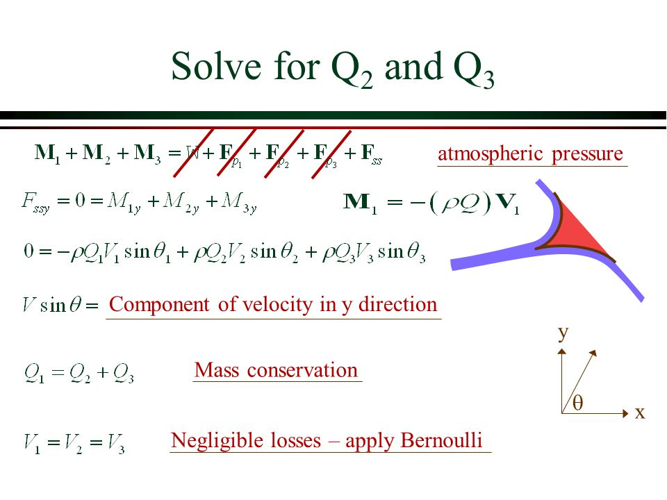 Solve for Q2 and Q3 atmospheric pressure
