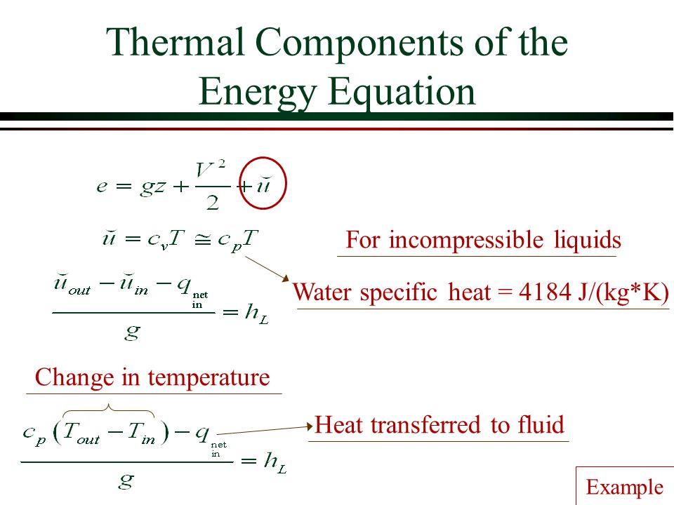 Thermal Components of the Energy Equation