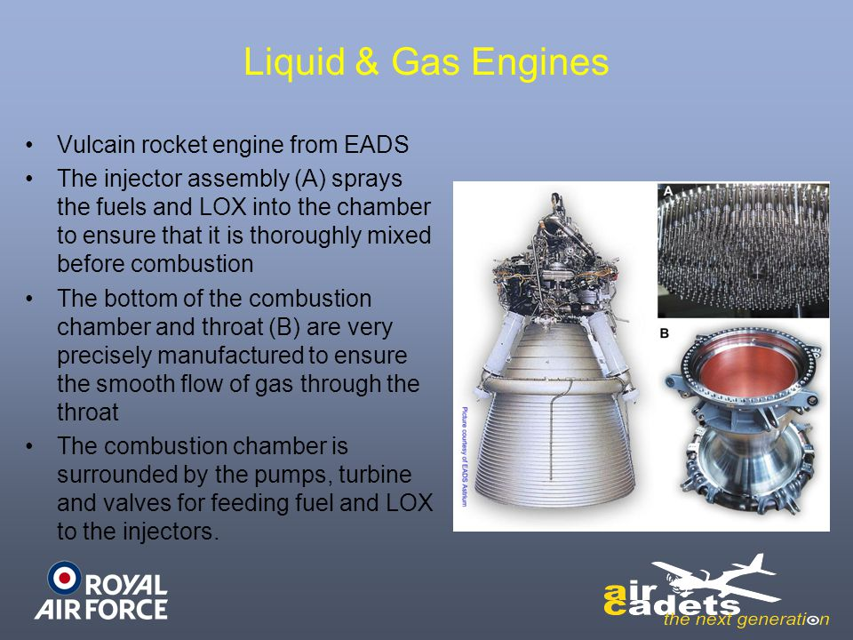 Liquid & Gas Engines Vulcain rocket engine from EADS