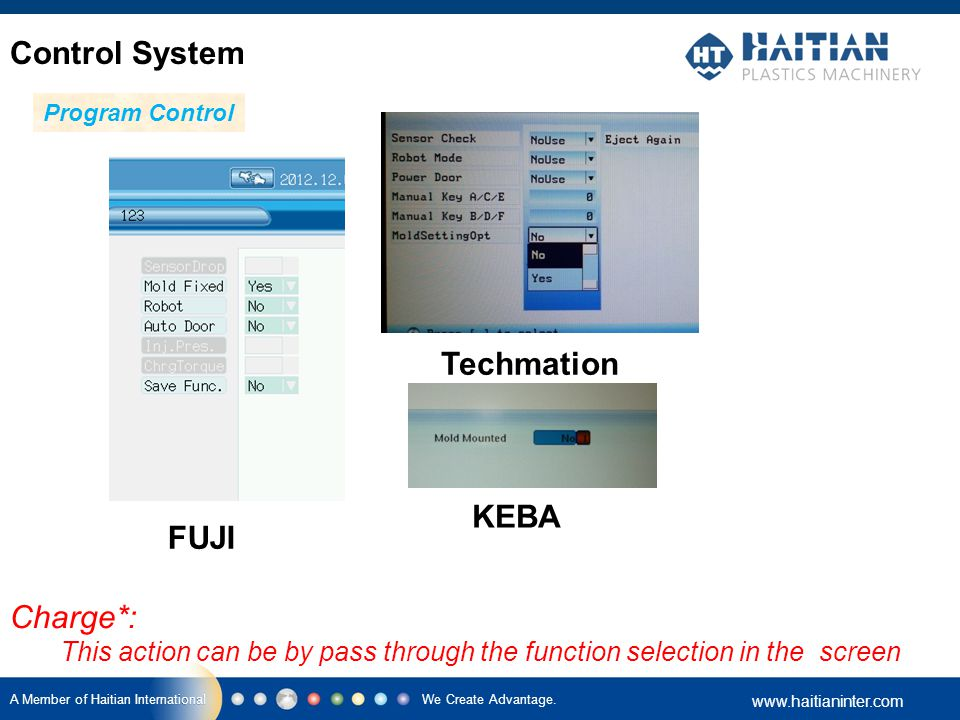 Control System Techmation KEBA FUJI Charge*: