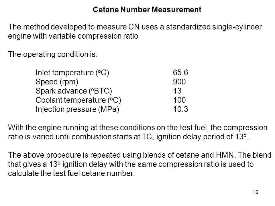 Cetane Number Measurement