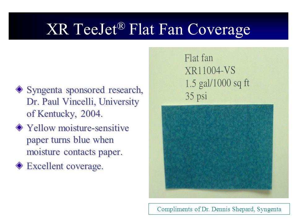 XR TeeJet® Flat Fan Coverage