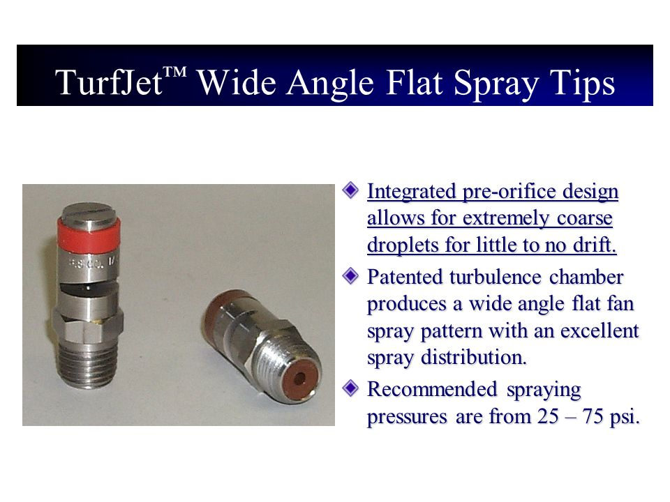 TurfJet™ Wide Angle Flat Spray Tips