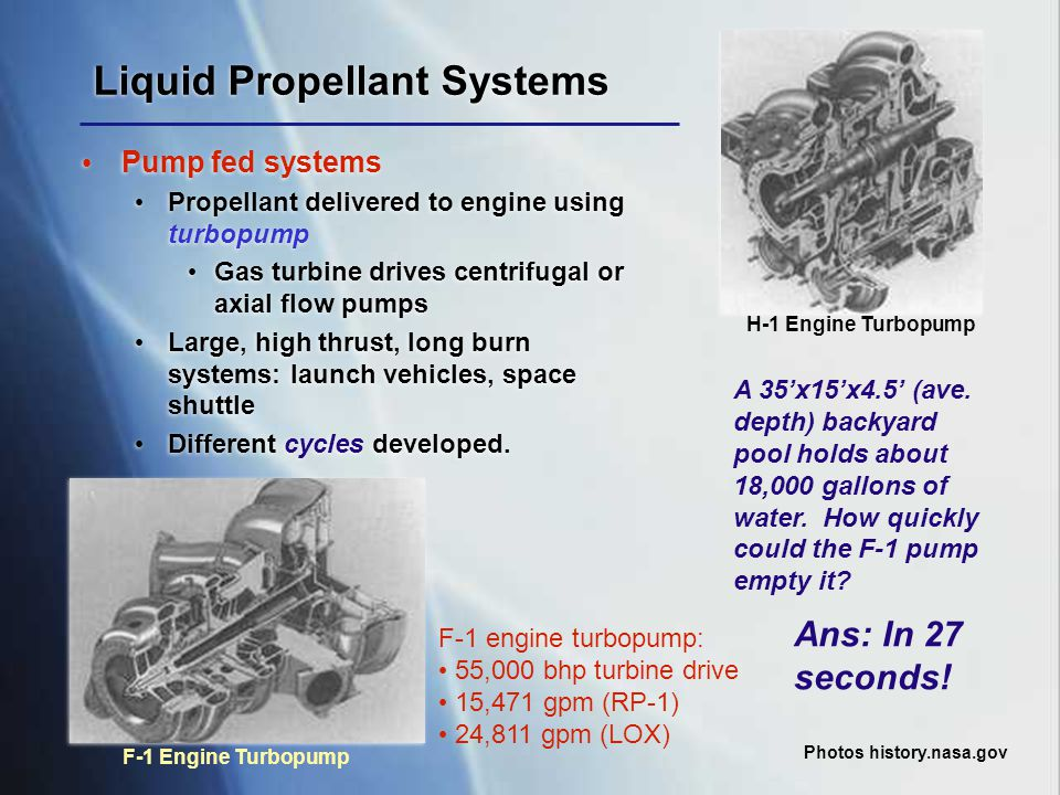 Liquid Propellant Systems