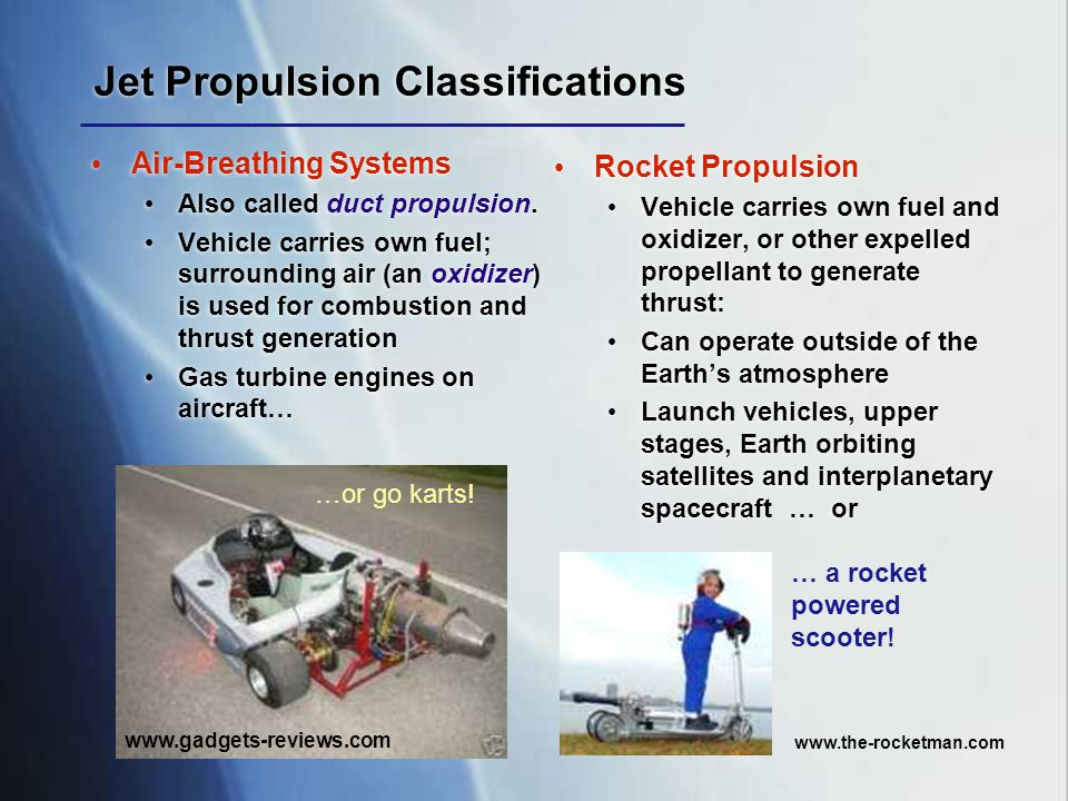 Jet Propulsion Classifications