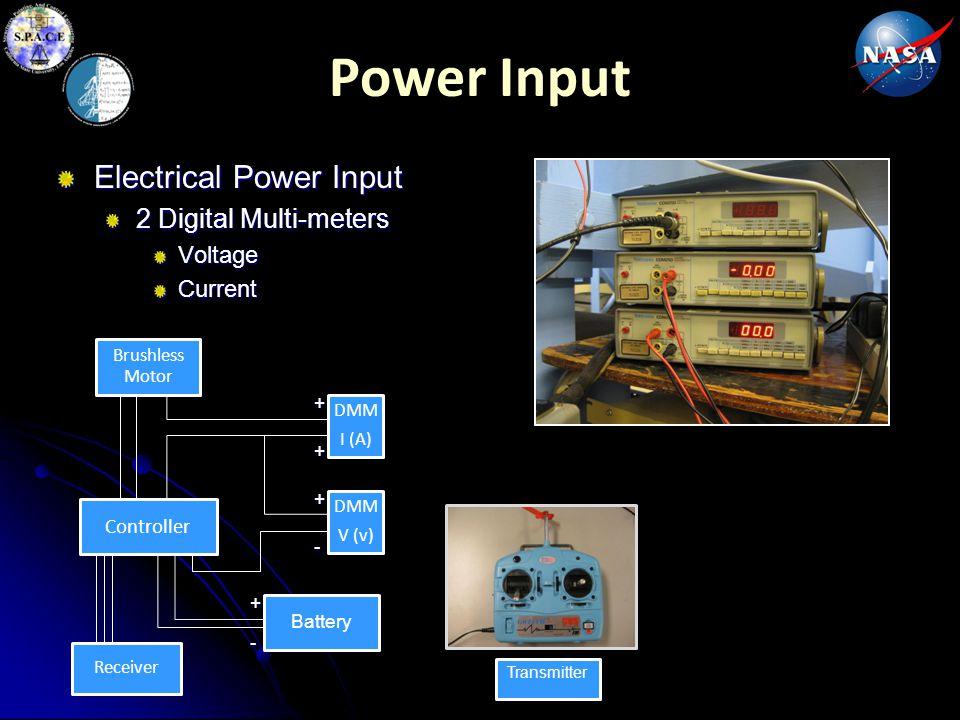 Power Input Electrical Power Input 2 Digital Multi-meters Voltage