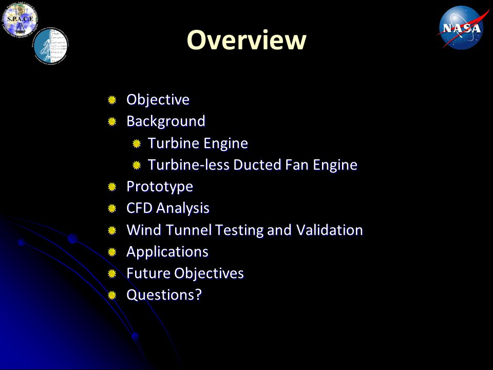 Overview Objective Background Turbine Engine