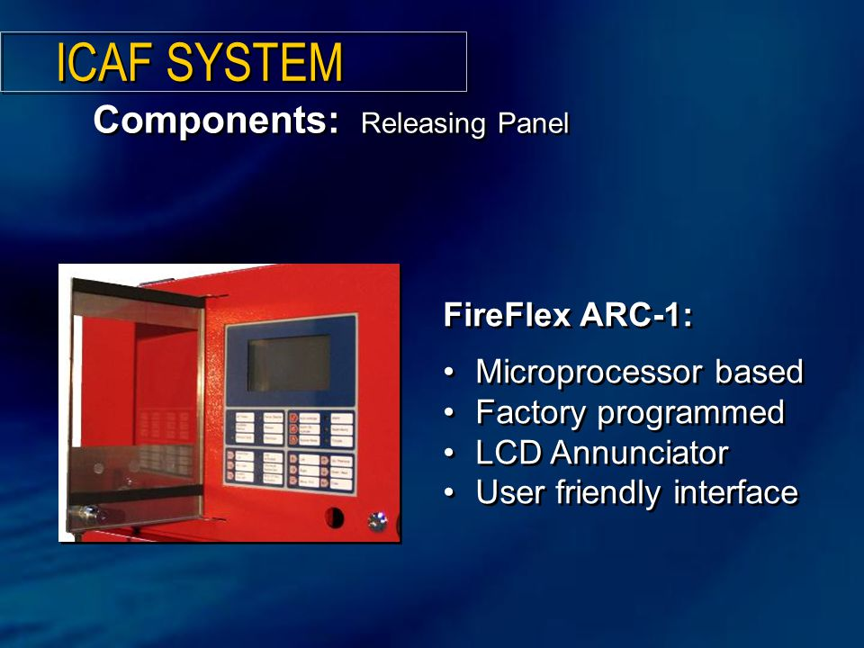 ICAF SYSTEM Components: Releasing Panel FireFlex ARC-1: