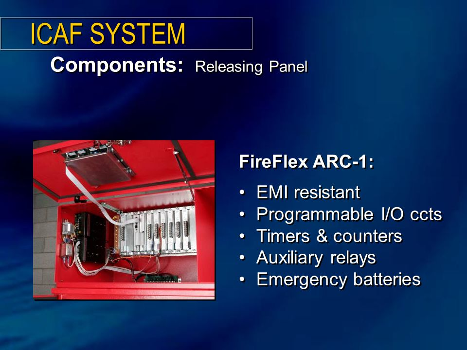 ICAF SYSTEM Components: Releasing Panel FireFlex ARC-1: EMI resistant