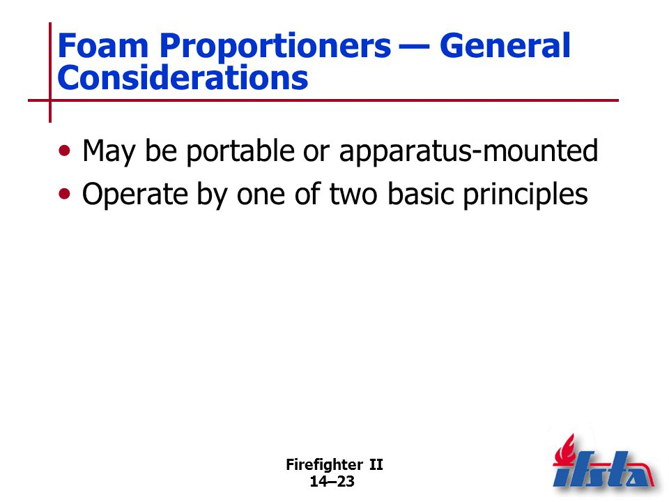 Portable Foam Proportioners