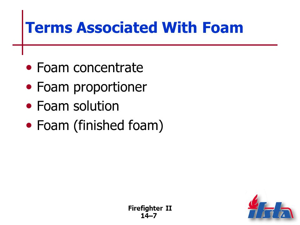 How Foam is Generated Foams used today are of mechanical type and before use must be. Proportioned.
