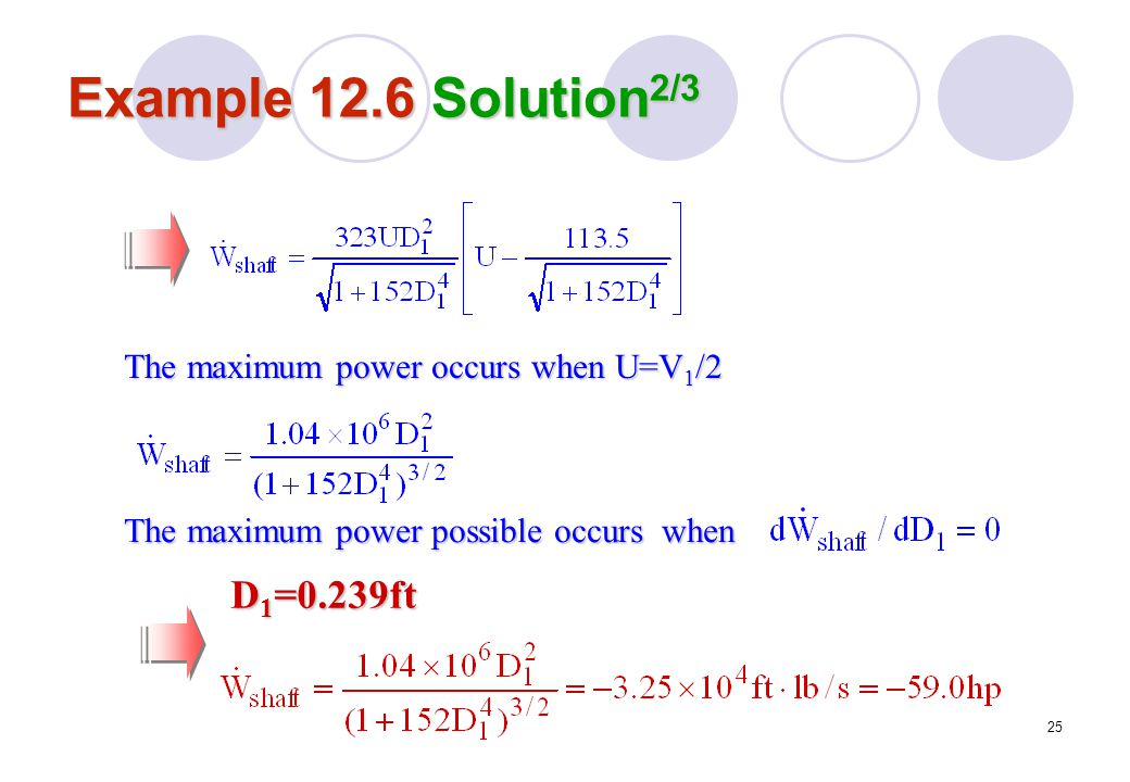 Example 12.6 Solution2/3 D1=0.239ft