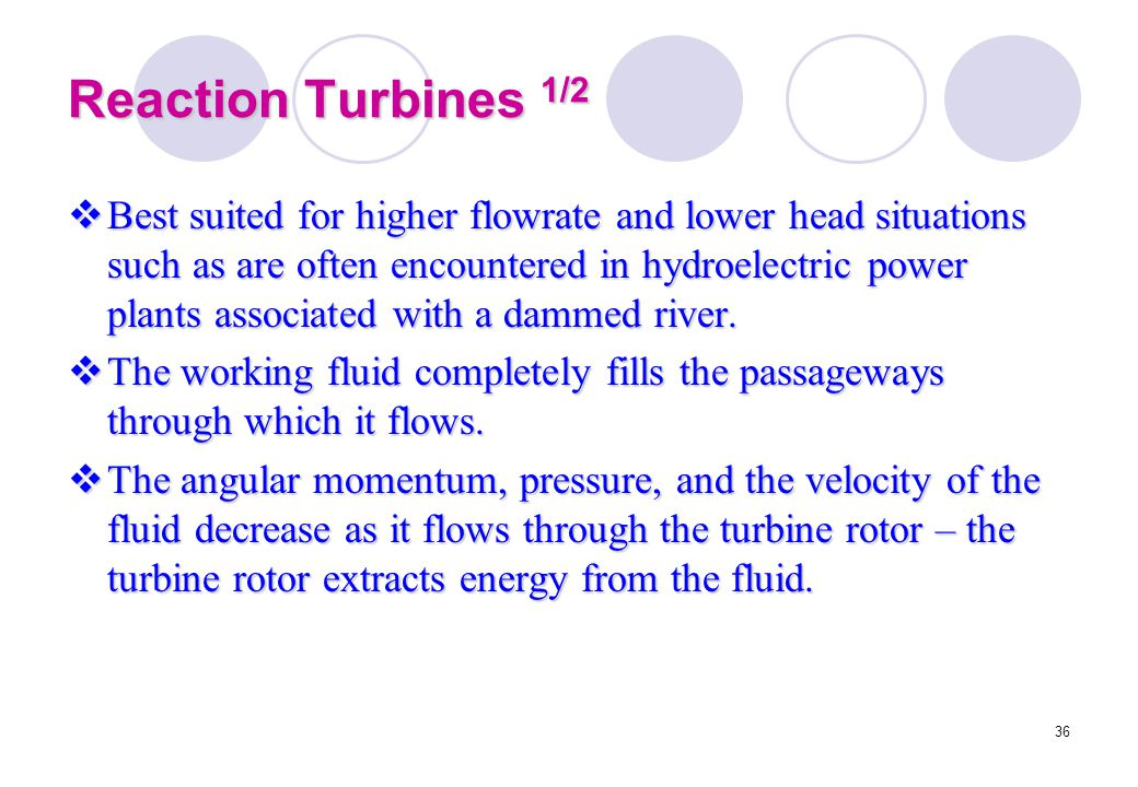 Reaction Turbines 1/2