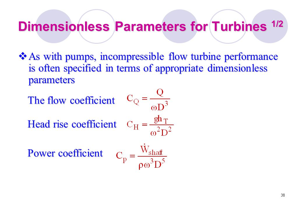 Dimensionless Parameters for Turbines 1/2