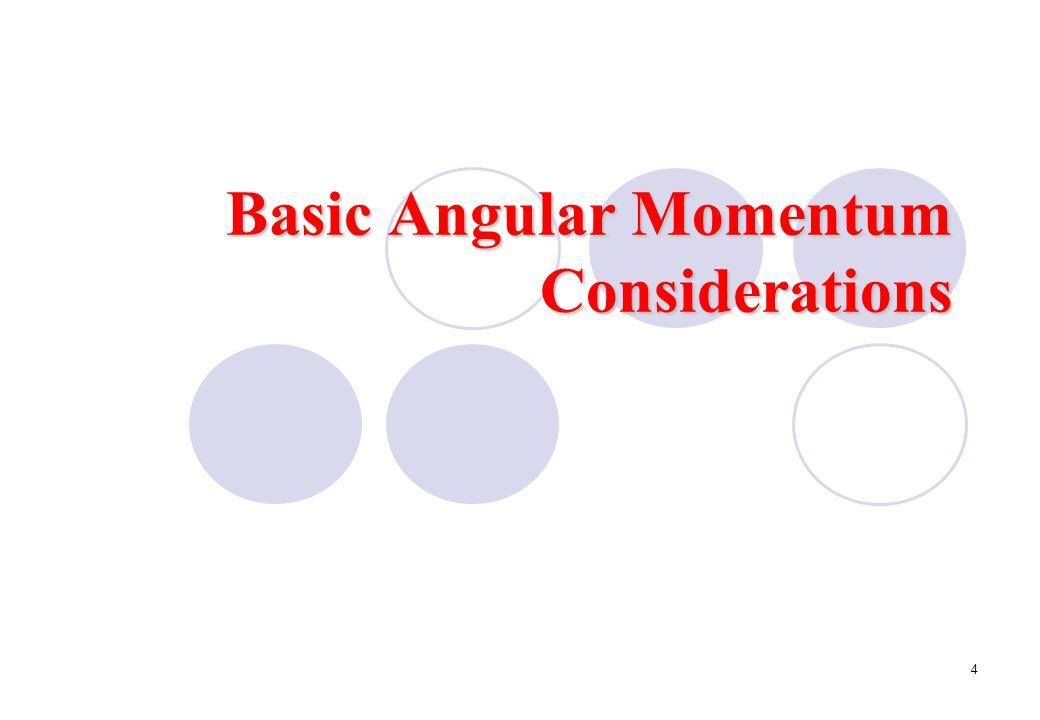 Basic Angular Momentum Considerations