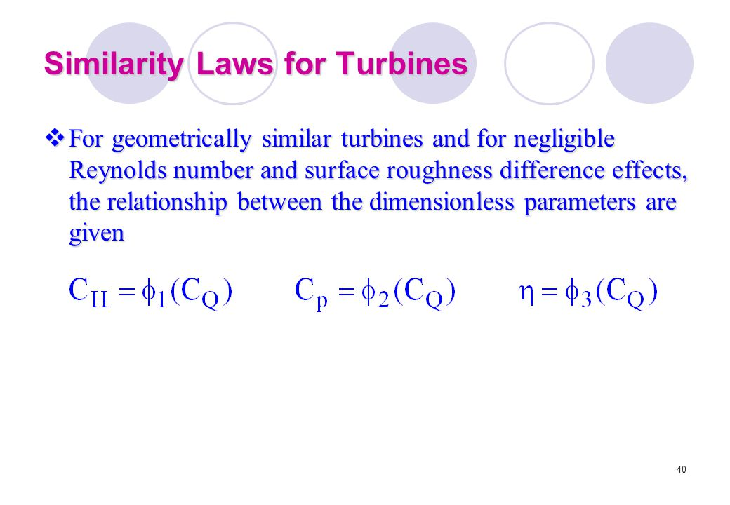 Similarity Laws for Turbines