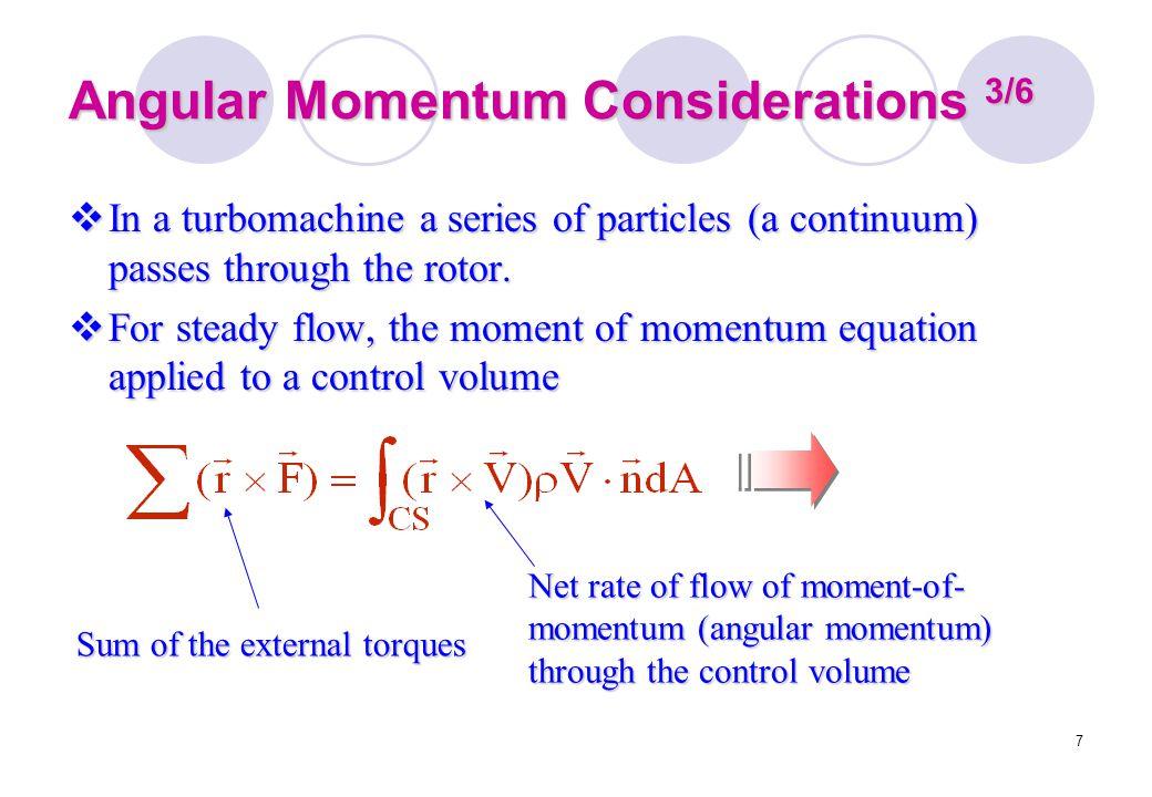 Angular Momentum Considerations 3/6
