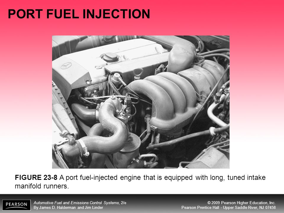 PORT FUEL INJECTION FIGURE 23-8 A port fuel-injected engine that is equipped with long, tuned intake manifold runners.