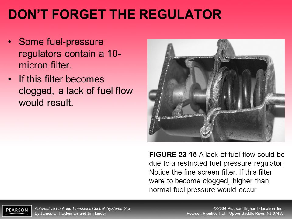 DON'T FORGET THE REGULATOR