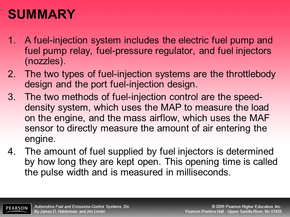 SUMMARY A fuel-injection system includes the electric fuel pump and fuel pump relay, fuel-pressure regulator, and fuel injectors (nozzles).