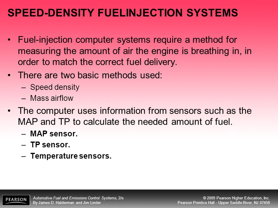 SPEED-DENSITY FUELINJECTION SYSTEMS