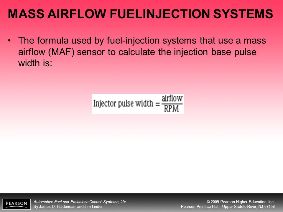 MASS AIRFLOW FUELINJECTION SYSTEMS