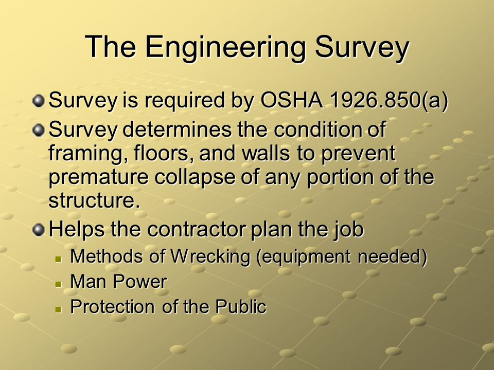 The Engineering Survey