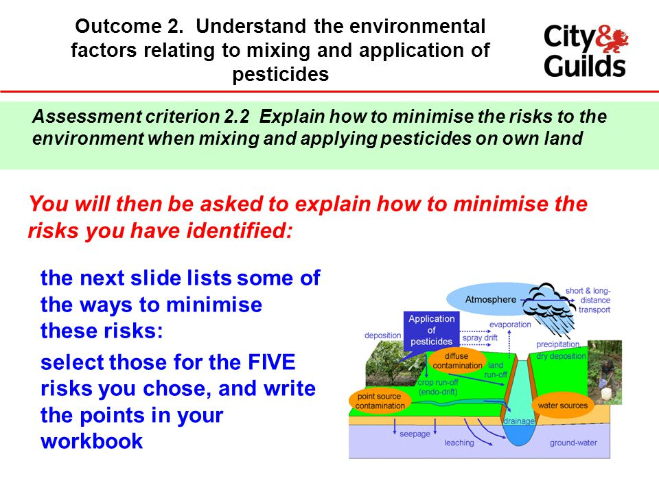 the next slide lists some of the ways to minimise these risks: