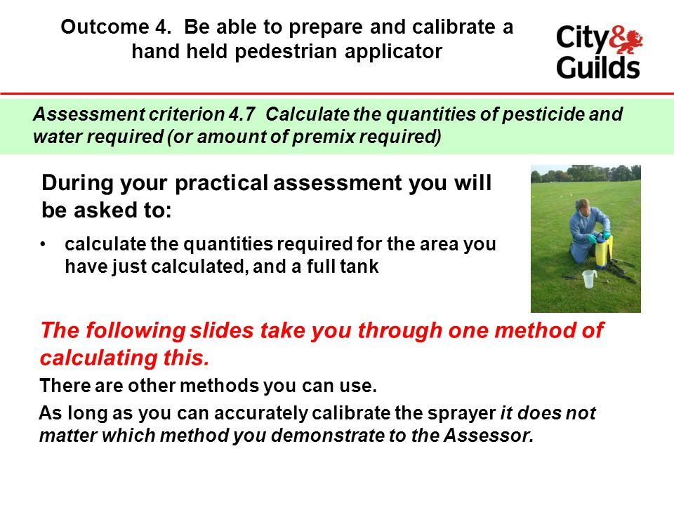 During your practical assessment you will be asked to: