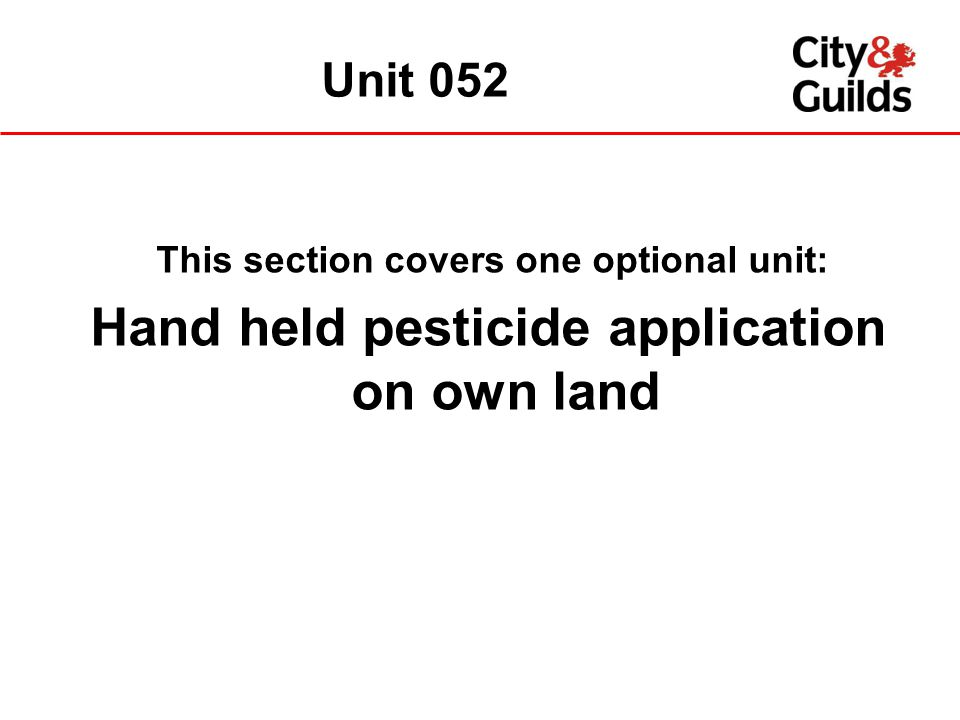 Hand held pesticide application on own land