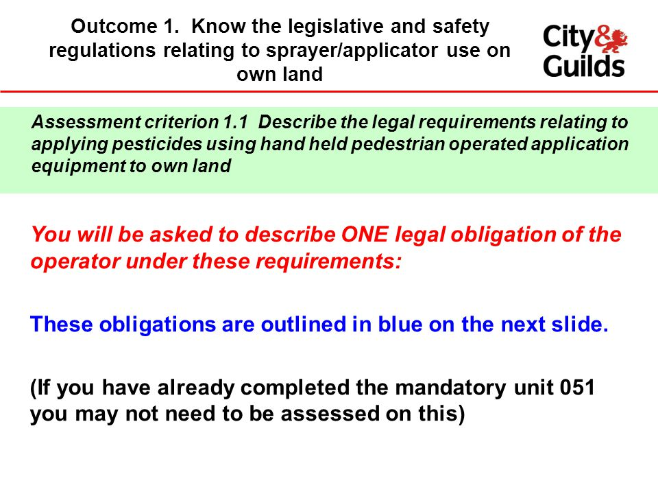 These obligations are outlined in blue on the next slide.