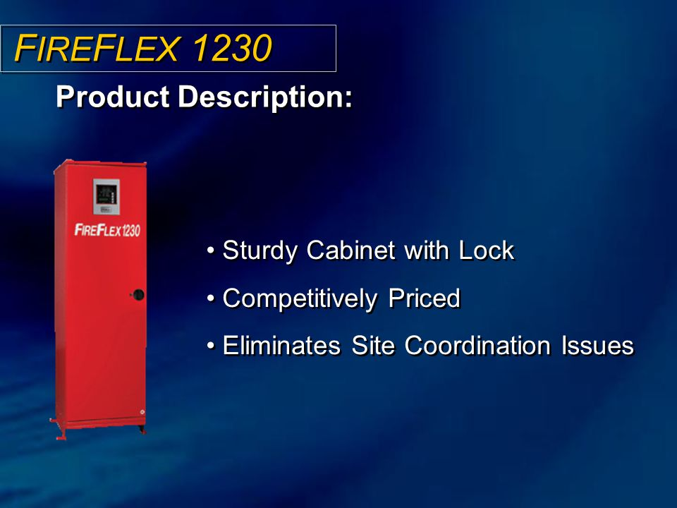 FIREFLEX 1230 Product Description: Sturdy Cabinet with Lock