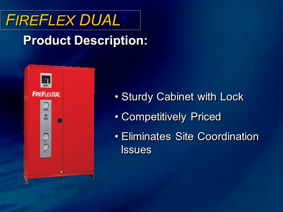 FIREFLEX DUAL Product Description: Sturdy Cabinet with Lock