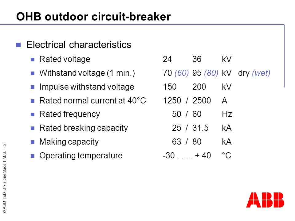 OHB outdoor circuit-breaker