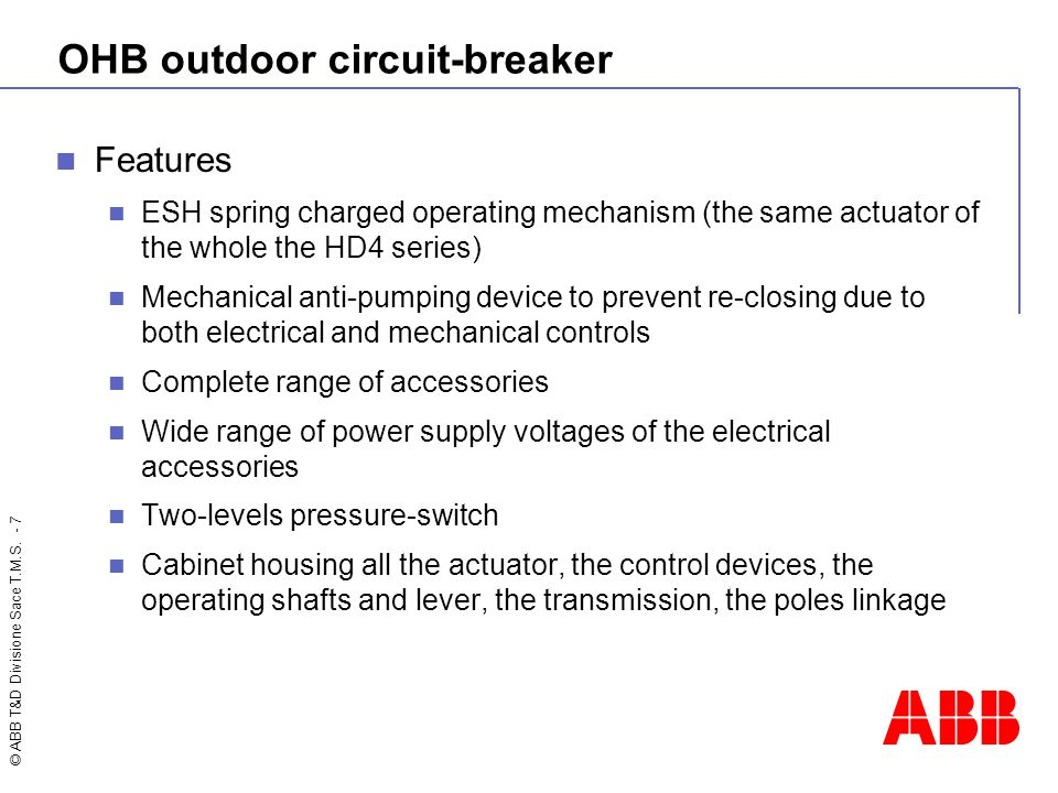 OHB outdoor circuit-breaker