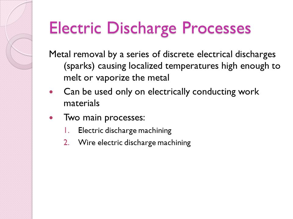Electric Discharge Processes