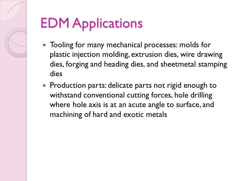 EDM Applications