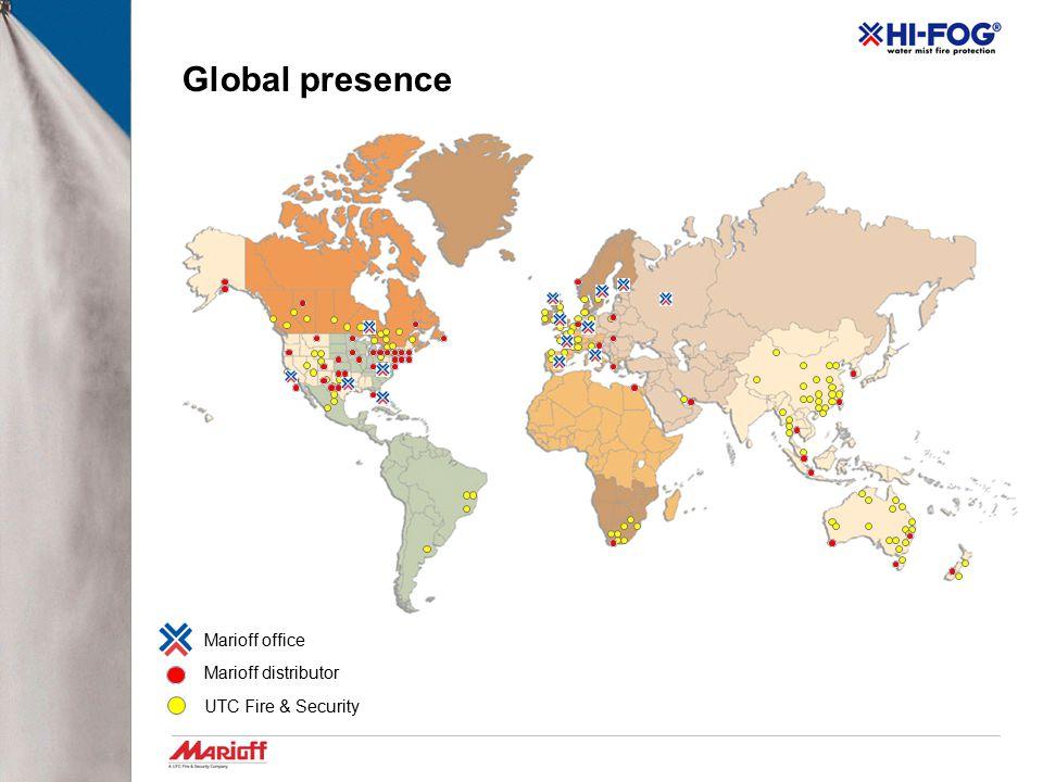 Global presence Marioff office Marioff distributor UTC Fire & Security