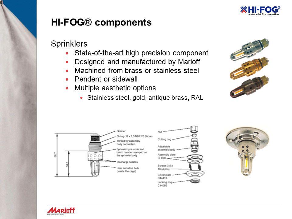 HI-FOG® components Sprinklers