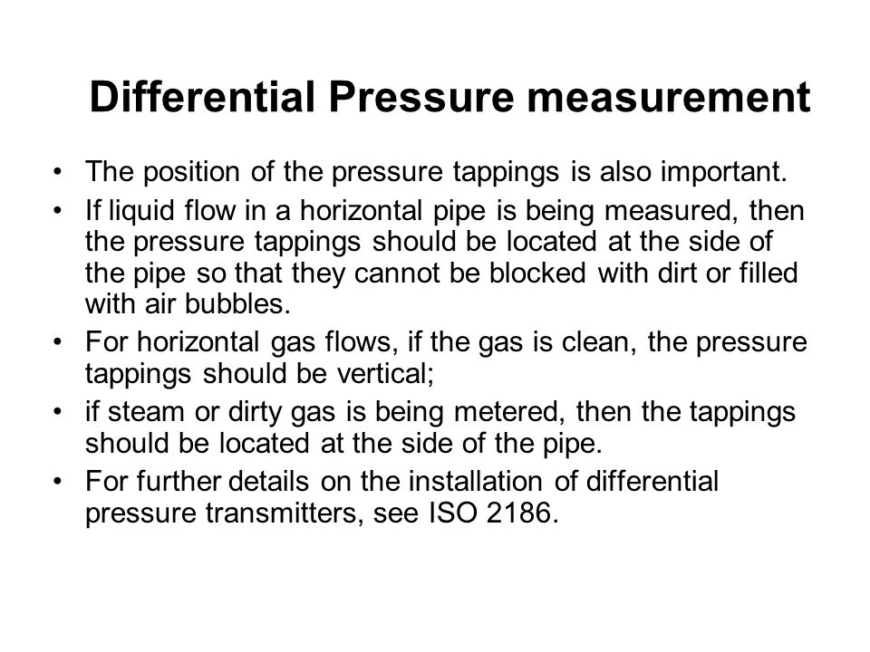 Differential Pressure measurement