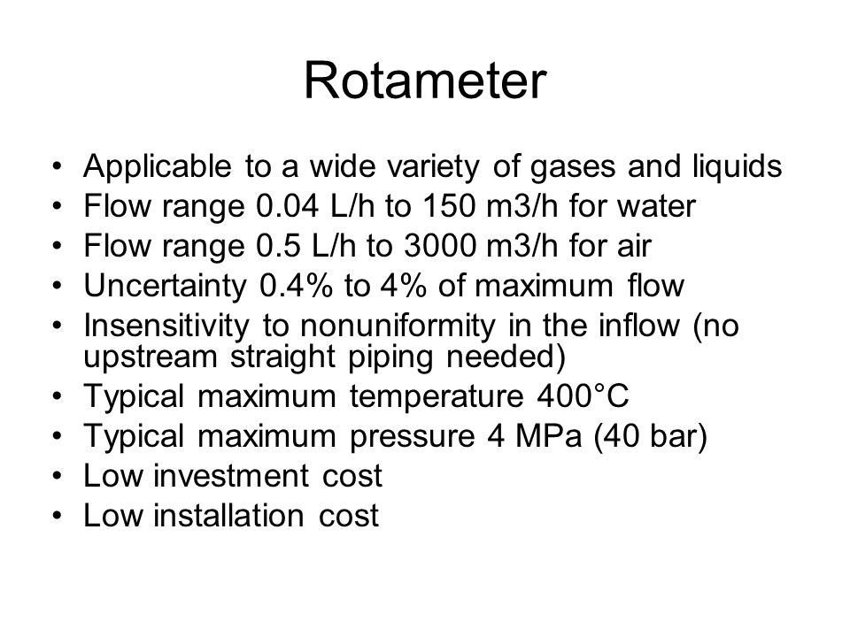 Rotameter Applicable to a wide variety of gases and liquids