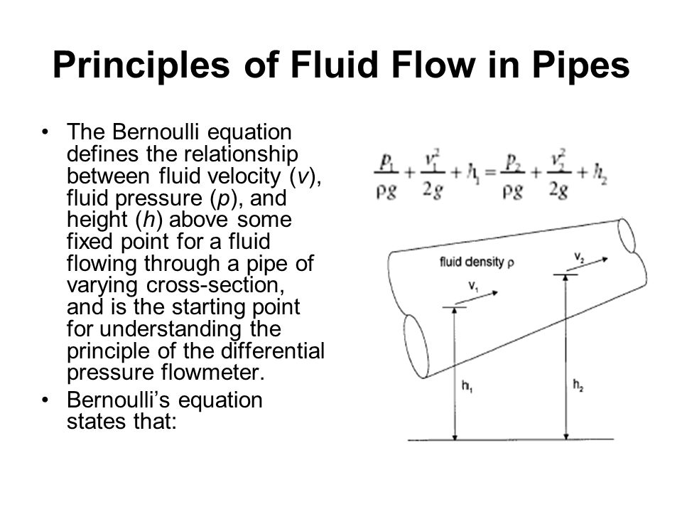 Principles of Fluid Flow in Pipes