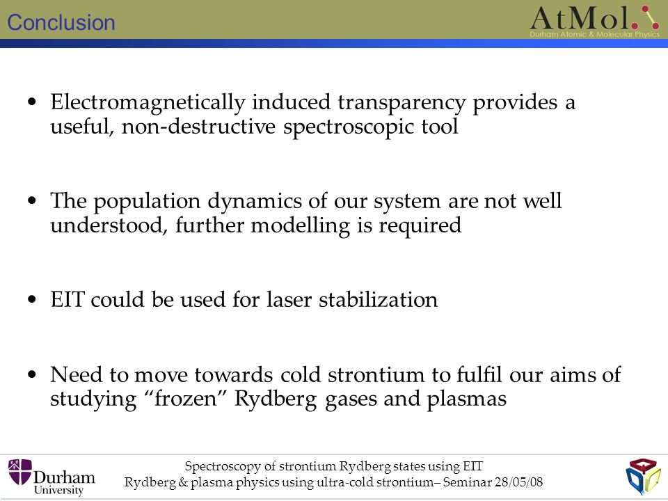 EIT could be used for laser stabilization