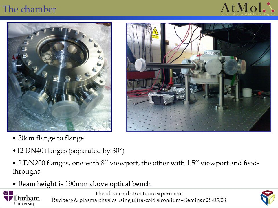 The chamber 30cm flange to flange 12 DN40 flanges (separated by 30°)
